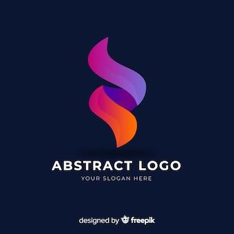 Modello di logo aziendale astratto gradiente