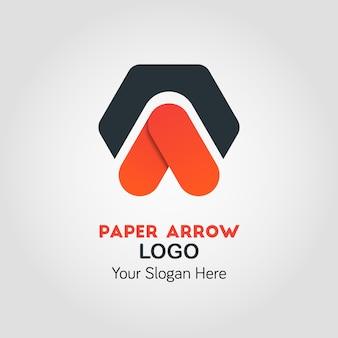 Modello di logo aziendale di punta