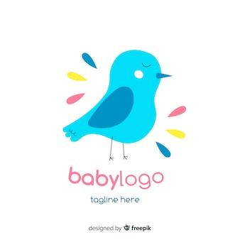 Modello di logo bella baby shop