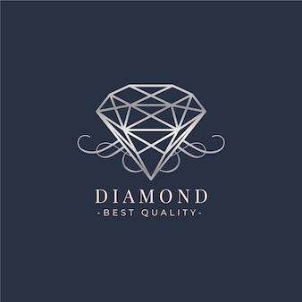 Modello di logo bellissimo diamante