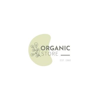 Modello di logo biologico con foglie