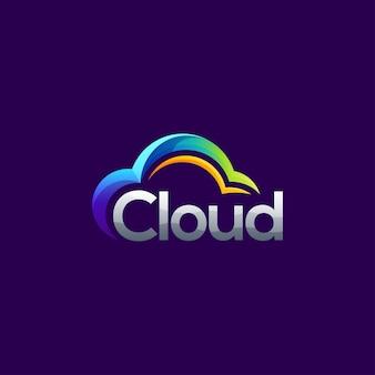 Modello di logo cloud