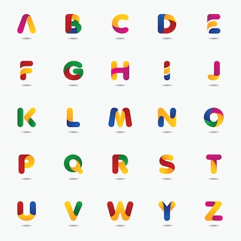 Modello di logo colorato lettera