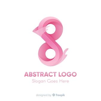 Modello di logo con forme astratte