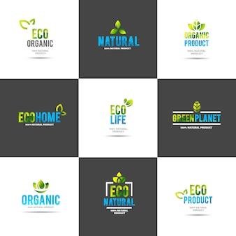 Modello di logo concept creativo casa verde