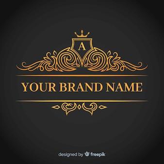 Modello di logo corporativo elegante dorato