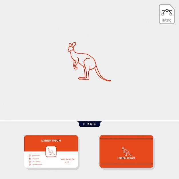 Modello di logo creativo canguro