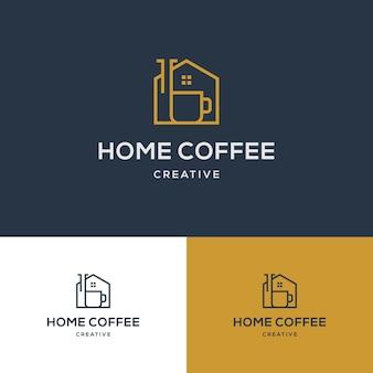 Modello di logo creativo coffee house