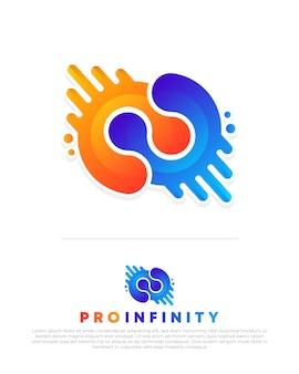Modello di logo creativo infinito