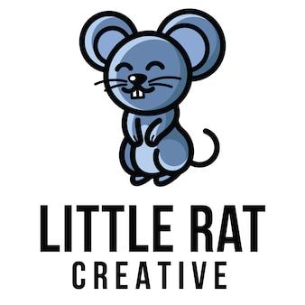 Modello di logo creativo piccolo ratto