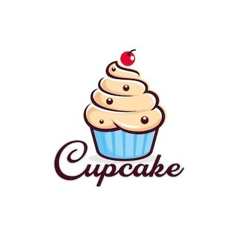 Modello di logo cupcake