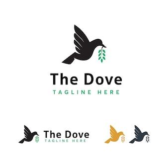 Modello di logo degli uccelli