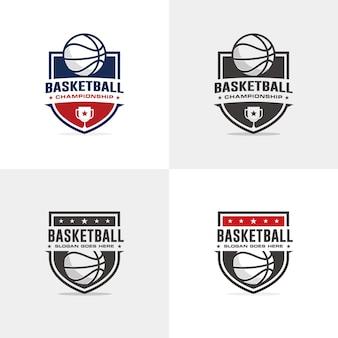 Modello di logo del basket