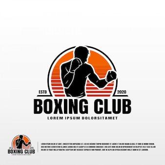 Modello di logo del club di boxe