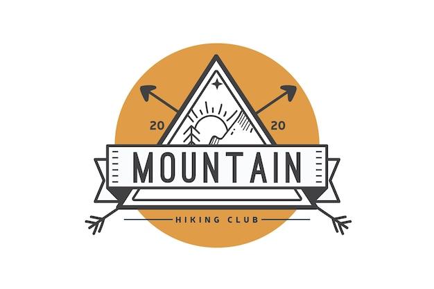 Modello di logo del club di escursionismo