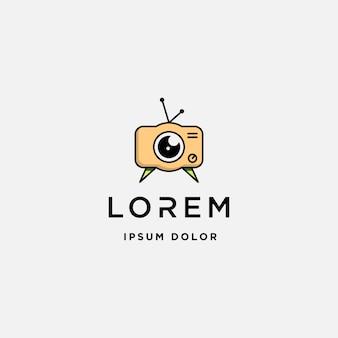 Modello di logo del film della macchina fotografica