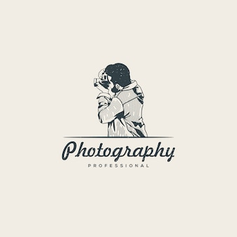 Modello di logo del fotografo professionista