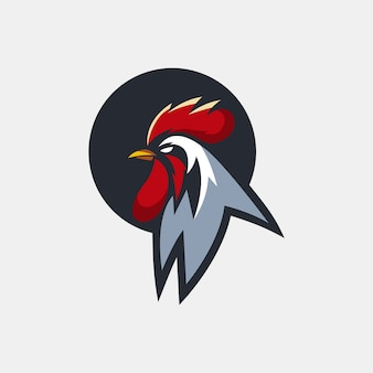 Modello di logo del gallo