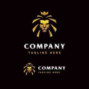 Modello di logo del leone premium