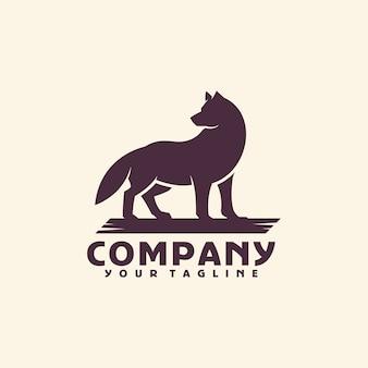 Modello di logo del lupo
