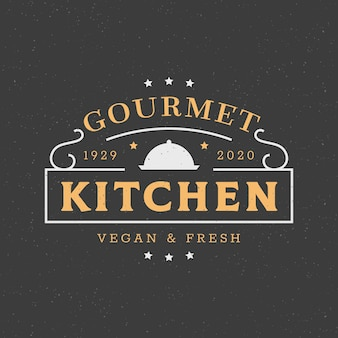 Modello di logo del ristorante creativo