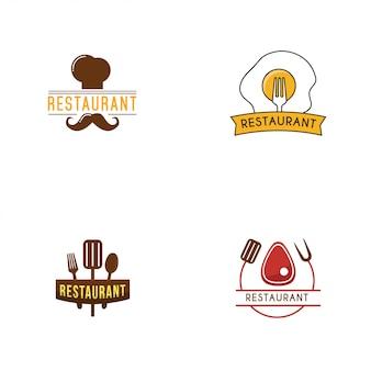 Modello di logo del ristorante