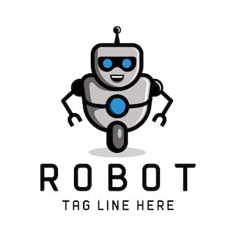 Modello di logo del robot intelligente