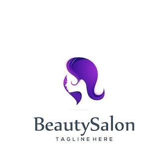 Modello di logo del salone di bellezza