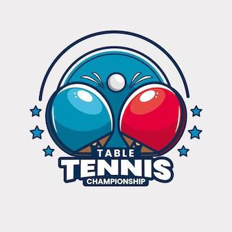 Modello di logo del torneo di ping pong