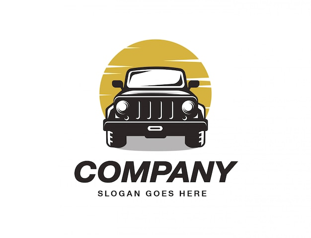 Modello di logo del veicolo suv