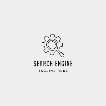 Modello di logo dell'ingranaggio del motore di ricerca