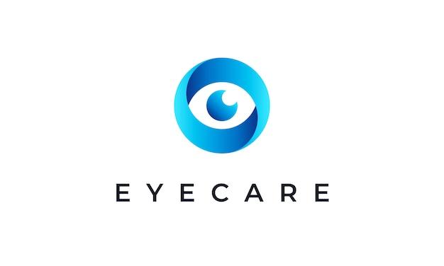 Modello di logo dell'occhio astratto