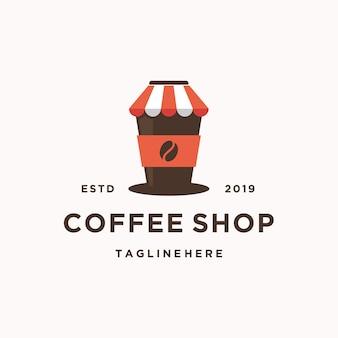 Modello di logo della caffetteria
