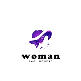 Modello di logo della donna