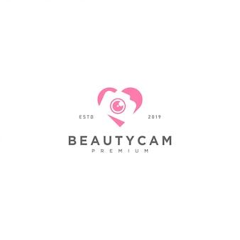 Modello di logo della fotocamera di bellezza