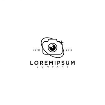 Modello di logo della fotocamera