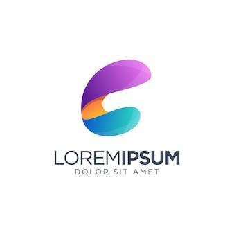 Modello di logo della lettera c.