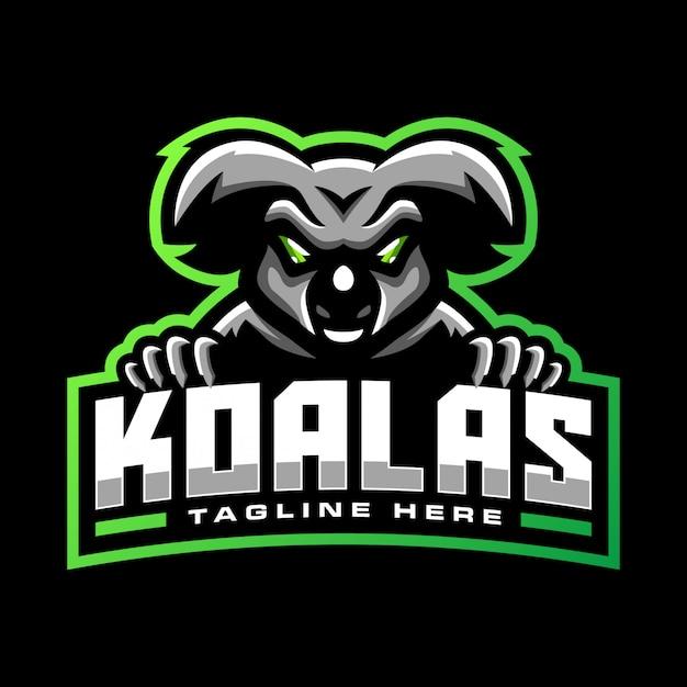 Modello di logo della mascotte koala