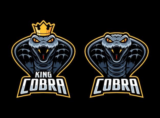 Modello di logo della mascotte serpente cobra
