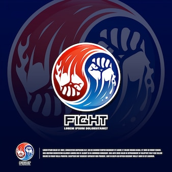 Modello di logo della squadra di arti marziali