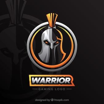 Modello di logo della squadra di e-sport con cavaliere