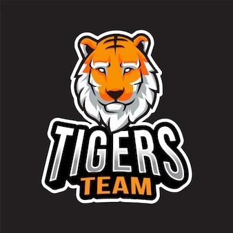 Modello di logo della squadra di tigri