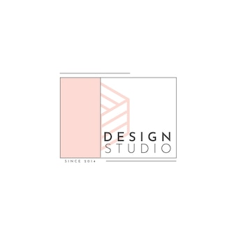 Modello di logo design studio