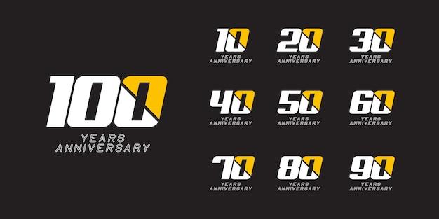 Modello di logo di 100 anni anniversario