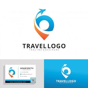 Modello di logo di agenzia di viaggi
