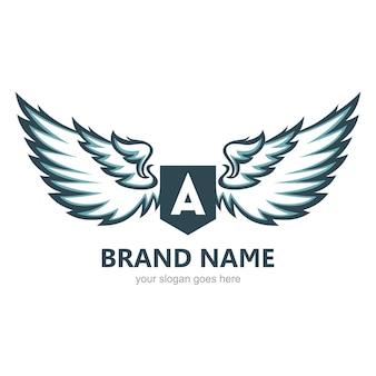 Modello di logo di ali