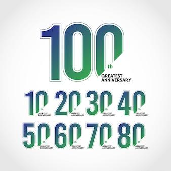 Modello di logo di anniversario progetta per la tua festa. design per pubblicità, poster, banner o stampa.
