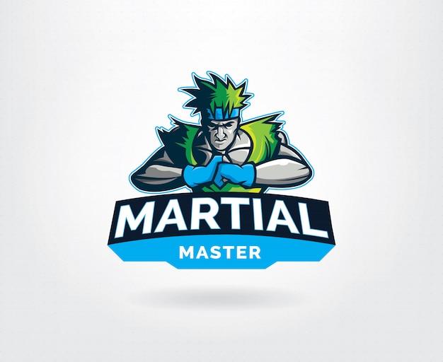 Modello di logo di arte marziale maestro dello sport