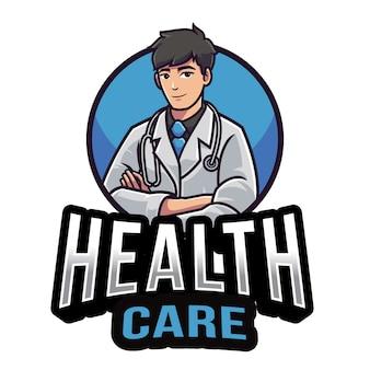 Modello di logo di assistenza sanitaria