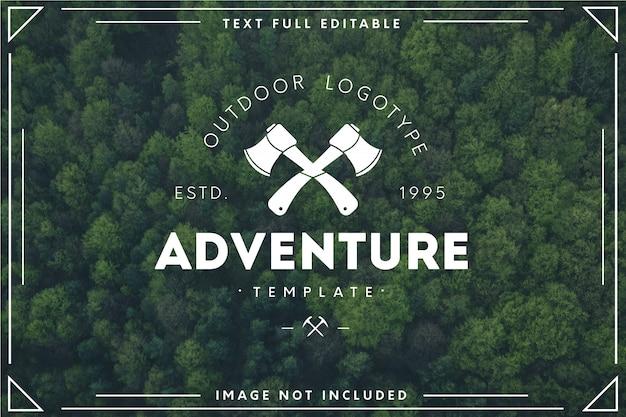Modello di logo di avventura moderna
